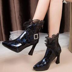 婦人向け 人形 スティレットヒール アンクルブーツ 靴