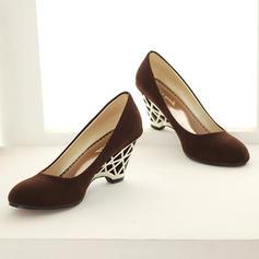 Mulheres PU Plataforma Bombas Fechados Calços com Outros sapatos