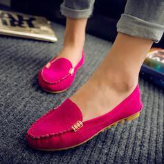 Donna PU Senza tacco Ballerine Punta rotonda scarpe