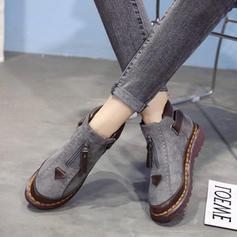 Pentru Femei PU Fară Toc Balerini Închis la vârf Cizme cu Cataramă pantofi