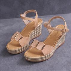Γυναίκες PU Γωνία κλίσης Σανδάλια Ανοιχτά σανδάλια toe Με Πόρπη παπούτσια