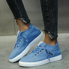 Vrouwen Zeildoek Lage sneakers met Vastrijgen schoenen