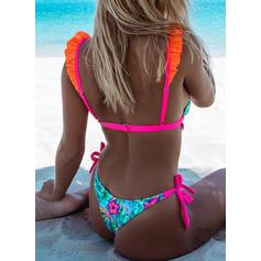 Floral Talie Joasă Curea Sexy Sevimli Bikini Mayolar