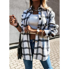 Stampa Risvolto Maniche lunghe Casuale Shirt and Blouses