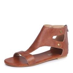 De mujer Cuero Tacón plano Sandalias Planos zapatos