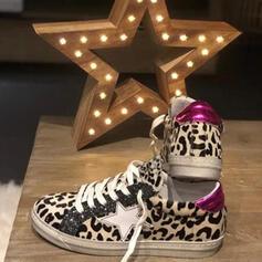 De mujer Cuero Casual al aire libre Atlético con Cordones zapatos