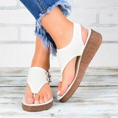 Pentru Femei PU Fară Toc Sandale Şlapi pantofi