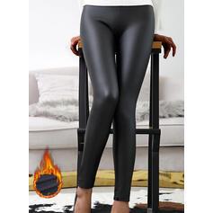 Pevný flitry PU Dlouho Sexy Plus velikost Kalhoty