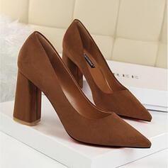 De mujer Ante Tacón ancho Salón con Color sólido zapatos