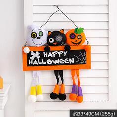 Lovely Horrifying Cartoon Halloween Black Cat Rubber Wall Art