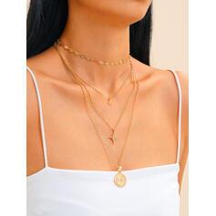 De moda Aleación Diamantes de imitación Collares