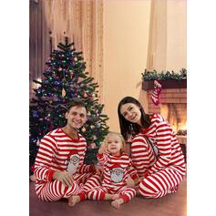 Санта В полоску Семейное соответствие Рождественская пижама