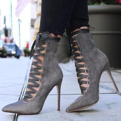 De mujer PU Tacón stilettos Salón con Cordones zapatos