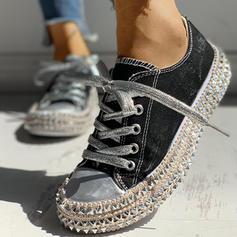 Bayanlar Tuval gündelik Dış mekan Ile Perçin Bağcıklı ayakkabı ayakkabı