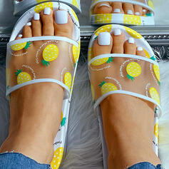 De mujer Malla PU Tacón plano Pantuflas zapatos