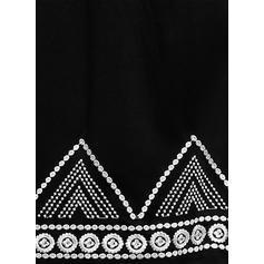 Impresión Mangas 3/4 Tendencia Sobre la Rodilla Casual/Vacaciones Túnica Vestidos