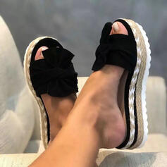 Λείαντο Γωνία κλίσης Σανδάλια Παπούτσια με λουρί Παντούφλες Με Bowknot παπούτσια