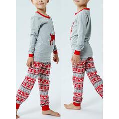 Soby Tisk Rodinné odpovídající Vánoční pyžama