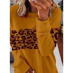 leopardo Girocollo Maniche lunghe Felpe