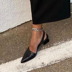 Γυναίκες PU Χοντρό φτέρνα Μυτερά toe Με Αποτύπωμα ζώου παπούτσια