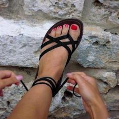 PU Flat Heel Sandaler Platta Skor / Fritidsskor Peep Toe med Andra skor