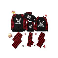 Brev Print Matchande familj Jul Pyjamas