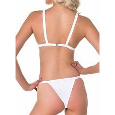 Enfärgad Neon Rem Sexig bikini Badkläder