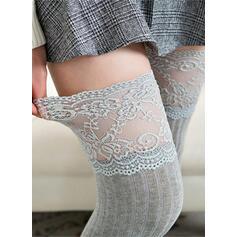 Colore solido Caldo/Confortevole/Da donna/Calza altezza ginocchio Calzini/calze autoreggenti