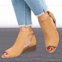 Mulheres PU Plataforma Sandálias Calços Peep toe com Outros sapatos