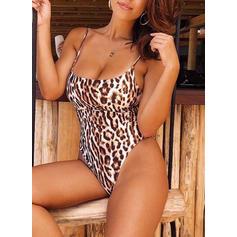 Leopardo Tanga Cinta Sexy Peça Única Maiôs
