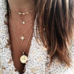 Fashionable Alloy Rhinestones Necklaces