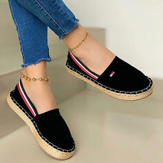 Women's Canvas Flat Heel Flats Round Toe With Patchwork Splice Color shoes