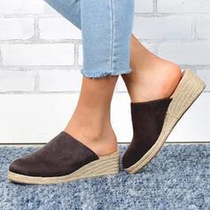 De mujer PU Tipo de tacón Sandalias Cerrados Pantuflas zapatos