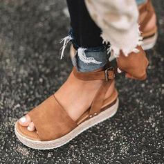 De mujer Cuero Tipo de tacón Sandalias Cuñas con Material Block zapatos