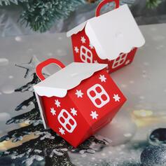 Papel Cartão Ornamentos de Natal Sacos de Doces (Conjunto de 12)