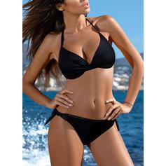 Underwire Triangle Halter Sexy Plus Size Bikinis Swimsuits