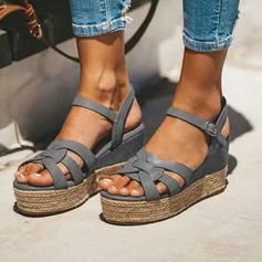 De mujer PU Tipo de tacón Sandalias con Hebilla zapatos