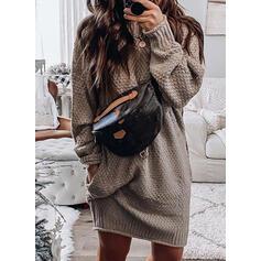 Solido Dolcevita Casual Abito maglione