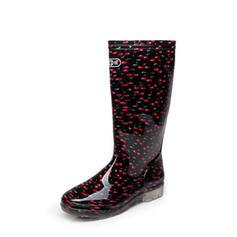 De mujer PVC Tacón bajo Botas Botas a la rodilla Botas de lluvia con Otros zapatos