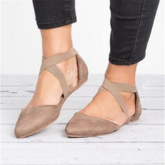 Women's Cloth Flat Heel Flats Pointed Toe With Elastic Band shoes
