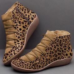 Pentru Femei Piele din Microfibră Toc jos Cizme cu Lace-up pantofi