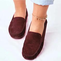Naisten Mokkanahka Matalakorkoiset Heel Matalakorkoiset jossa Solid Color kengät