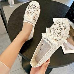 Pentru Femei Pânză călcâi plat Balerini cu Nod De la gât înafară Altele pantofi