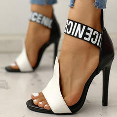 Women's PU Stiletto Heel Sandals Peep Toe shoes