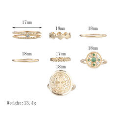 Único Exquisito Con estilo Aleación Sistemas de la joyería Anillos (Juego de 6 pares)