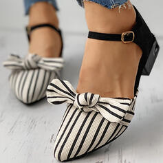Femmes Microfibre Talon plat Chaussures plates avec Stripe chaussures