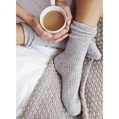 Jednobarevná Teplý/Komfortní/Dámské/Posádkové ponožky Ponožky