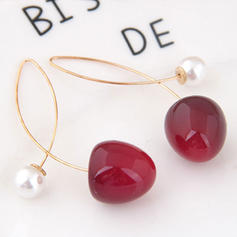 Stylish Simple Alloy Resin Imitation Pearls Women's Earrings