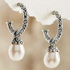 Attraktiv Charmen Smuk Elegant Legering med Perler øreringe