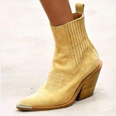 De mujer PU Tacón ancho Salón Botas Botas longitud media con Otros zapatos